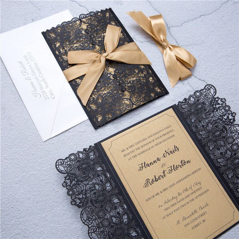 Laser Cut Wedding Invitations | Wedding Invite | Custom Laser ...
