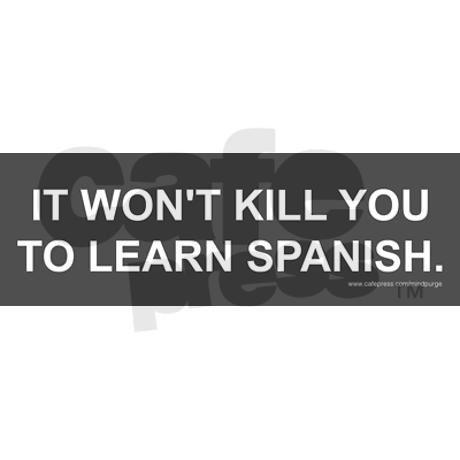 Learn spanish sticker bumper