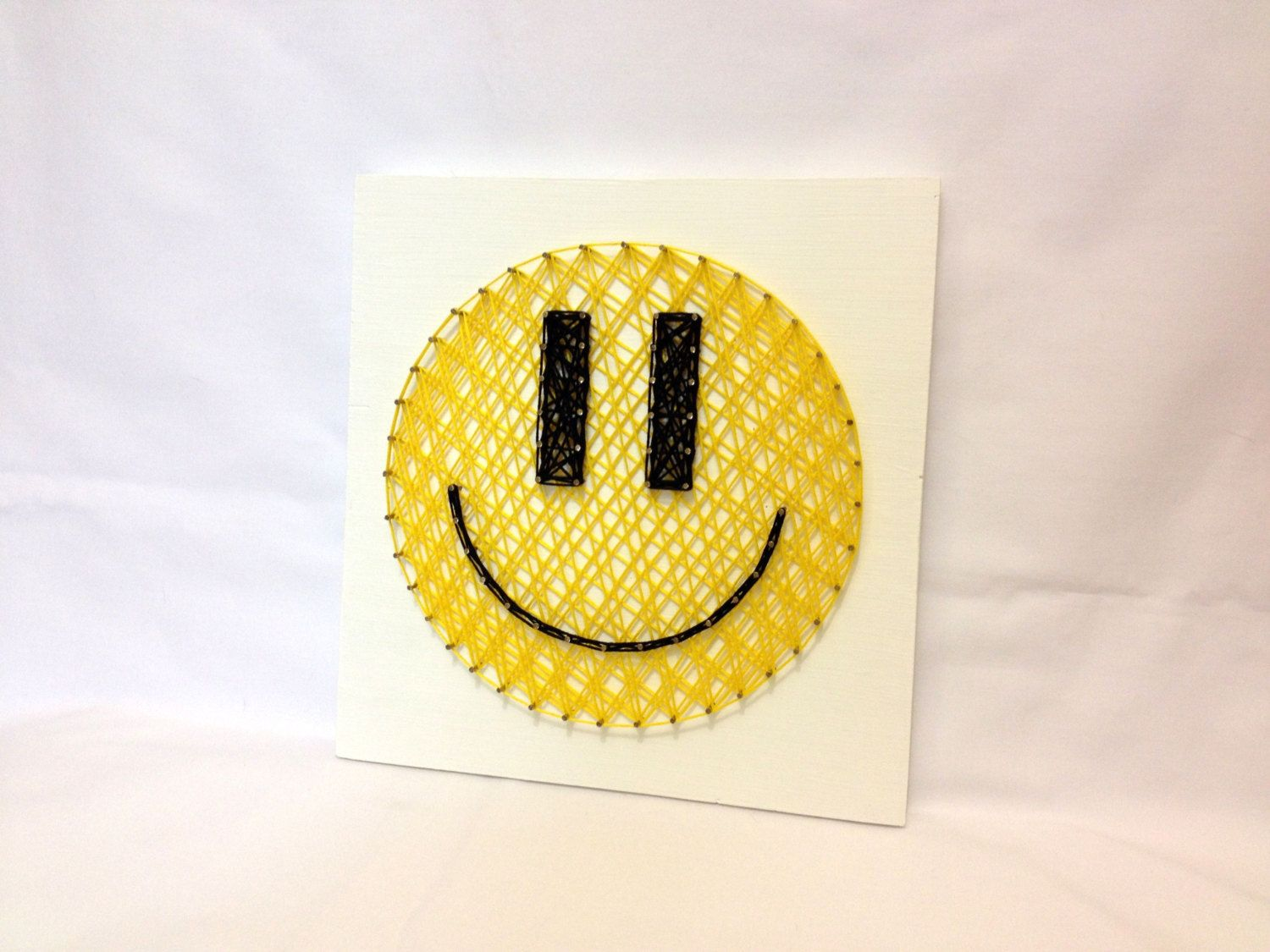 String Art Smiley Wall Art Smiley Sign Home Decor от OneRoots ...
