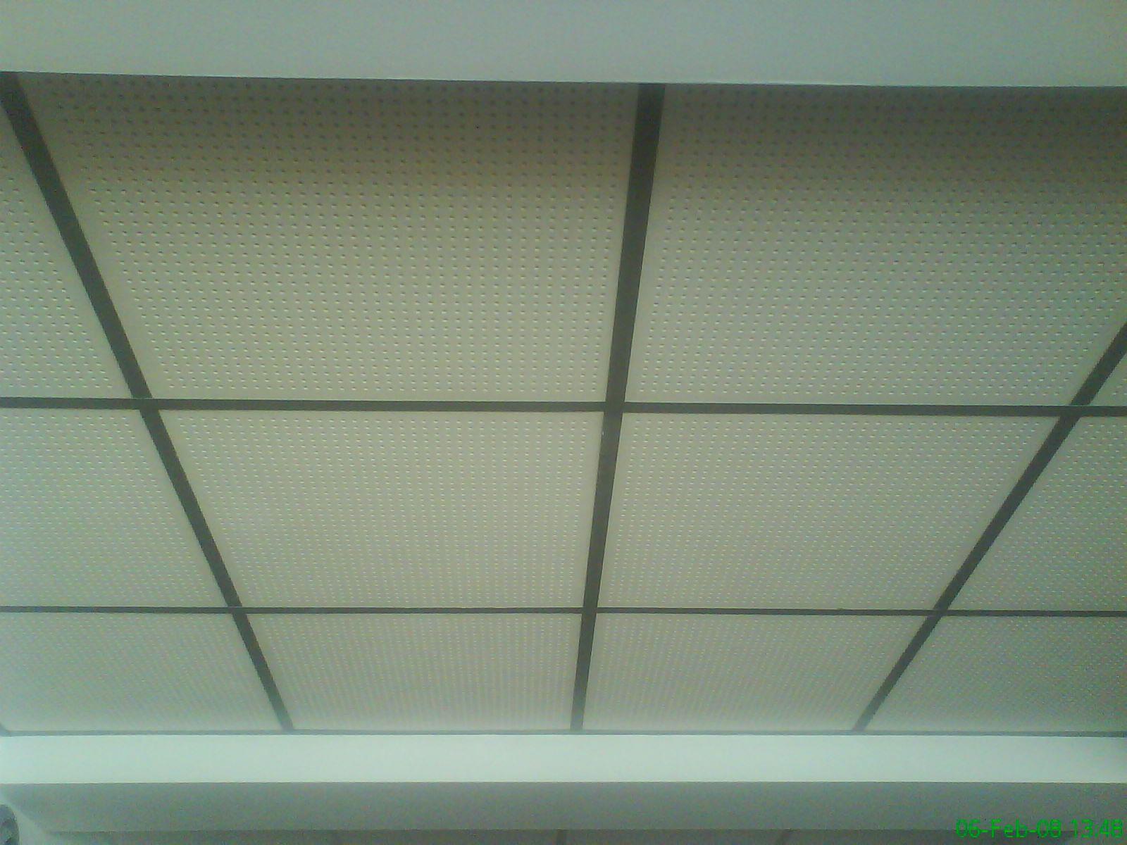 Falso techo registrable con placas agujereadas reforma - Falso techo registrable ...