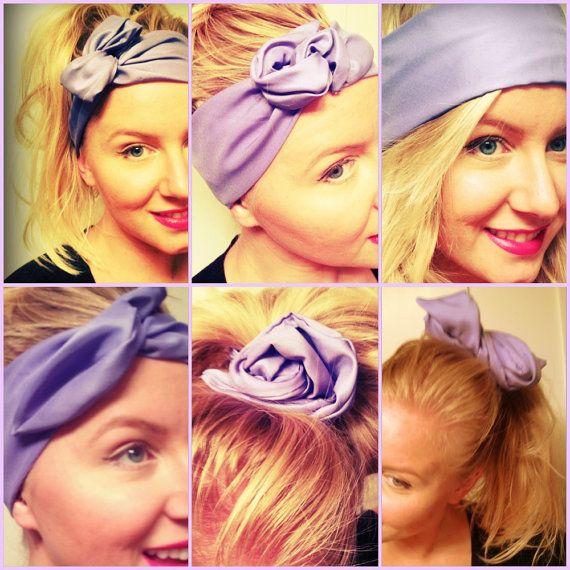 Wired Twist Headband Scarf Handmade Fabric Many Colors Turban Head ... bf8bf91aae5