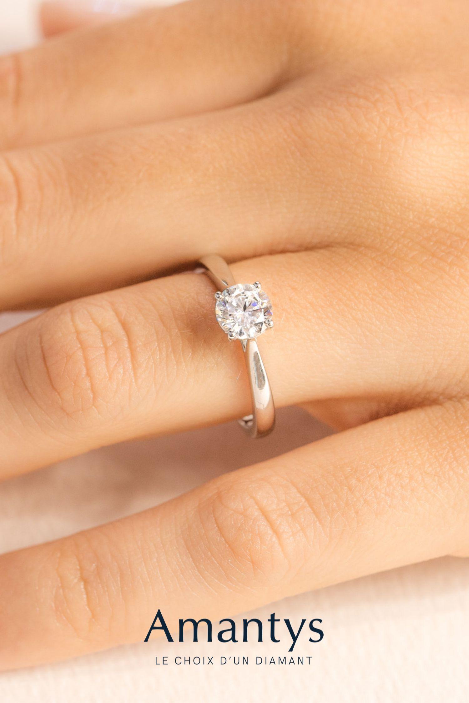 bague diamant pure