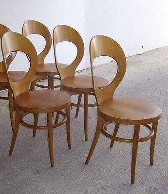 Baumann Serie De 4 Chaises Mouette Vintage Scandinave Mobler Design Chairs Chaise Mobilier De Salon Chaises Baumann