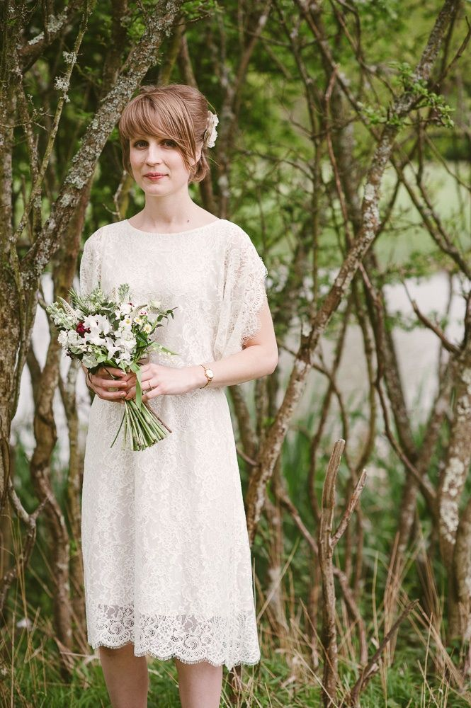 Wild white and red seasonal May bridal bouquet Photo by My Love Story Photography - http://my-lovestory.co.uk/