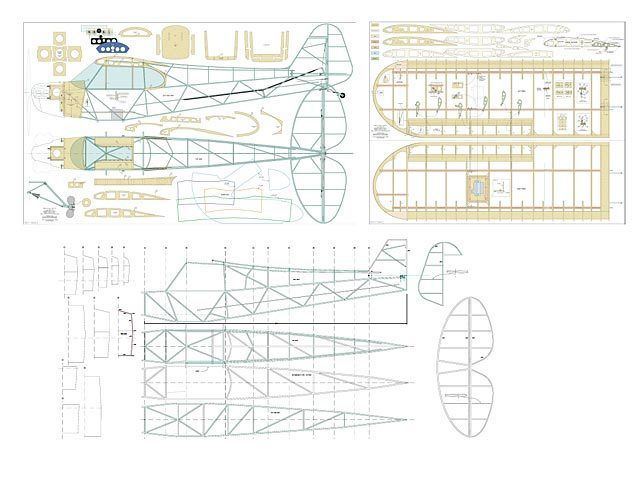 Details about Piper J3 Club full Size Balsa Model Airplane