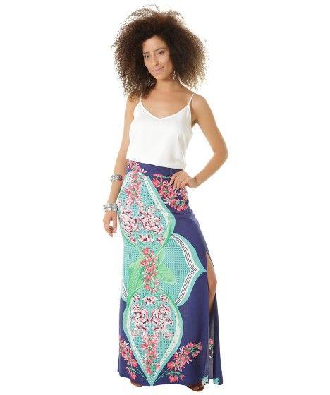 fb27742a4e Saia-Longa-Estampada-Flora-Dress-To-Azul-Marinho-8363178-Azul Marinho 3