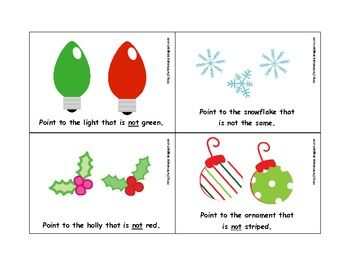 Christmas-Themed Understanding Negation for Speech Therapy - Pinned by @PediaStaff – Please Visit ht.ly/63sNtfor all our pediatric therapy pins