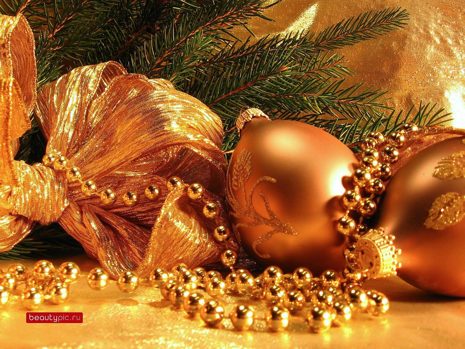 golden christmas ornaments