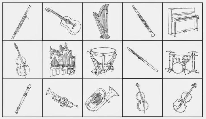 lesegitter musikinstrumente musik elementary music music und kindergarten. Black Bedroom Furniture Sets. Home Design Ideas
