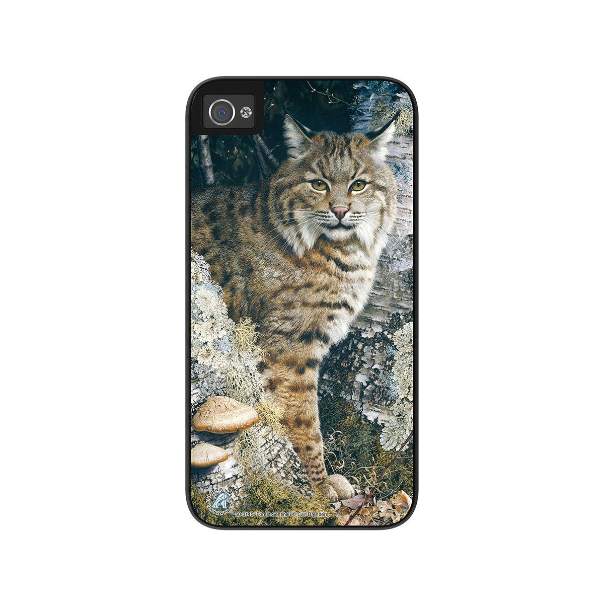 "Airstrike® Bobcat iPhone 5 Case, Bobcat iPhone 5s Case, Bobcat iPhone Cover Protective Phone Case ""Forest Sentinel"" 50-3145"