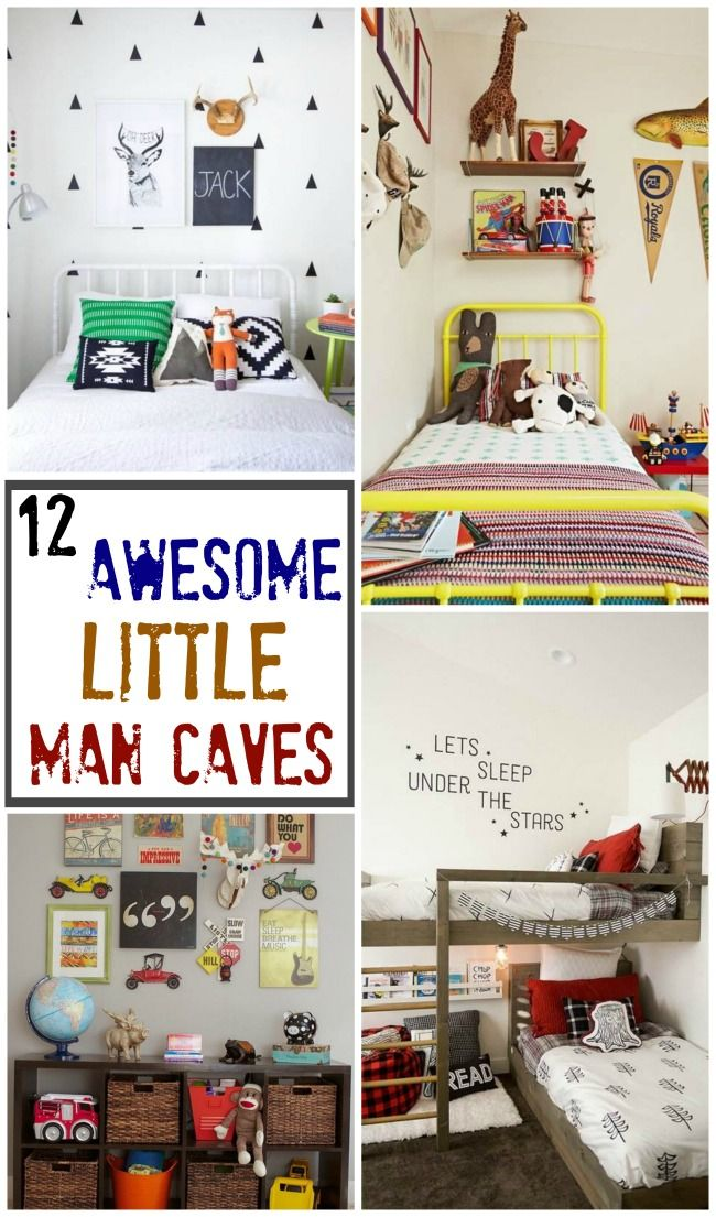 A Little Man Cave Round Up Design Dazzle Diy Boy Bedroom Boy Room Man Cave Bedroom