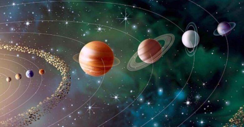 حركة الكواكب حول الشمس في مدارات بيضاوية Planets Solar System Wallpaper Black Background Wallpaper