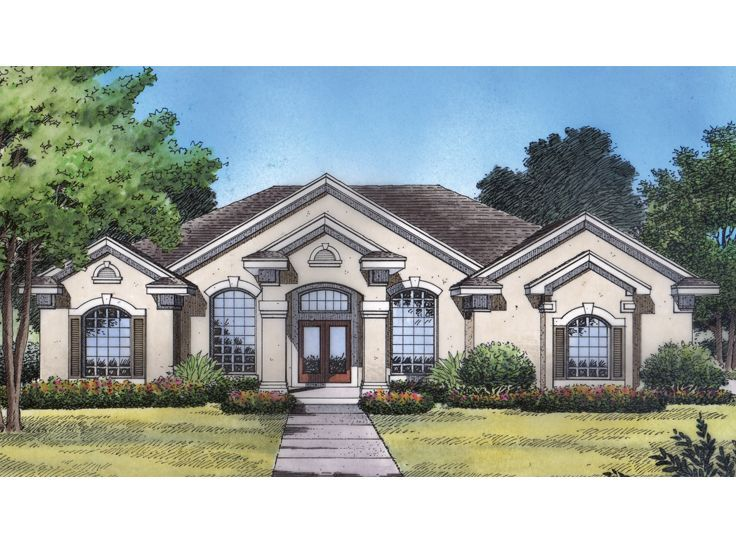 1 Story Home Design 043h 0095 With