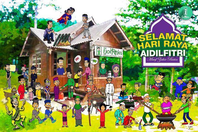 Gambar Kampung Animasi