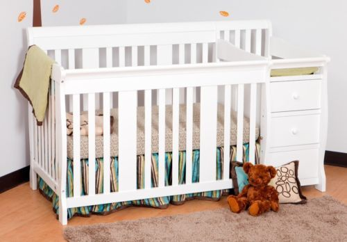 White 4 in 1 Side Convertible Crib Changer Nursery Furniture Baby ...
