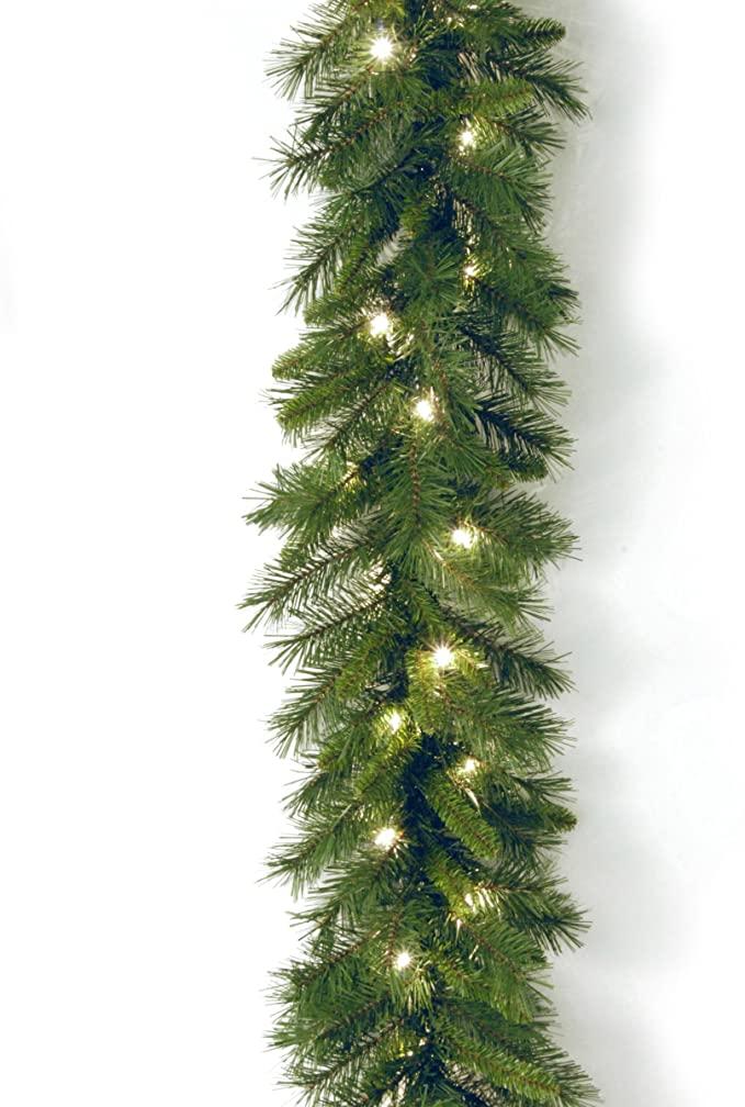 Amazon Com National Tree Company Pre Lit Artificial Christmas Garland Includes Pre Strung Light Artificial Christmas Garland Pre Lit Garland Outdoor Garland