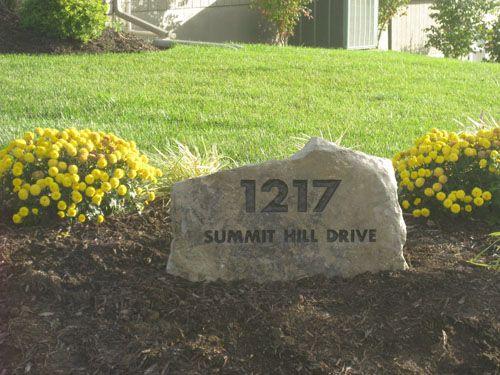 Idea For The Address Stone I Want To Do Backyard House Address