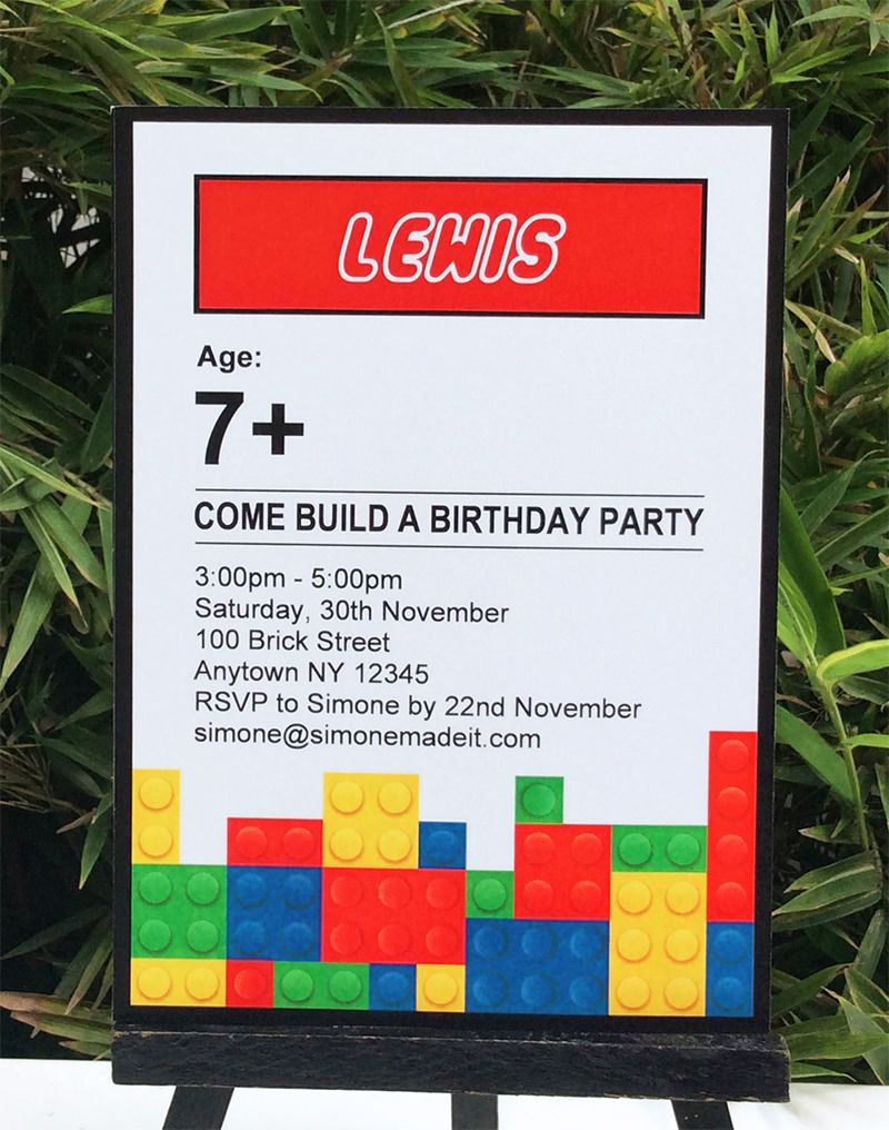 Lego Party Printables, Invitations & Decorations | Lego party ...