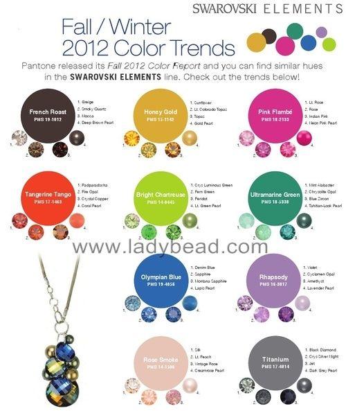 Swarovski+color+trends | Pantene Color Trends for Fall Winter 2012 Swarovski Elements ...