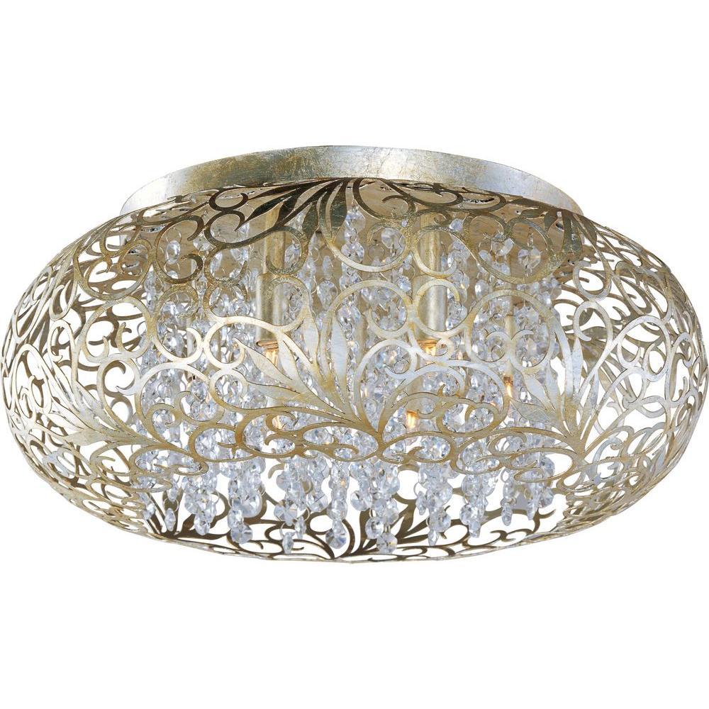 Maxim Lighting Arabesque 7-Light Golden Silver Flushmount