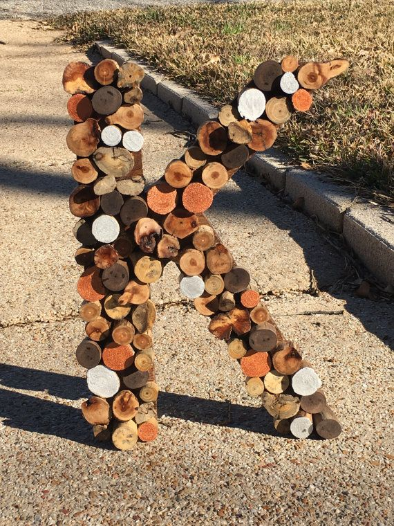 Wood Slice Tree Branch Letters And Numbers Products Wood