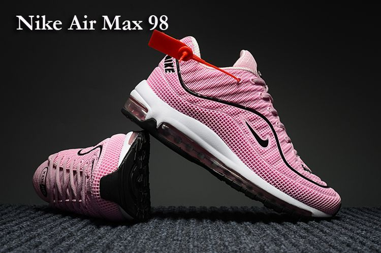 55ed5016c8a Nike Air Max 98 Running Women Shoes Pink White