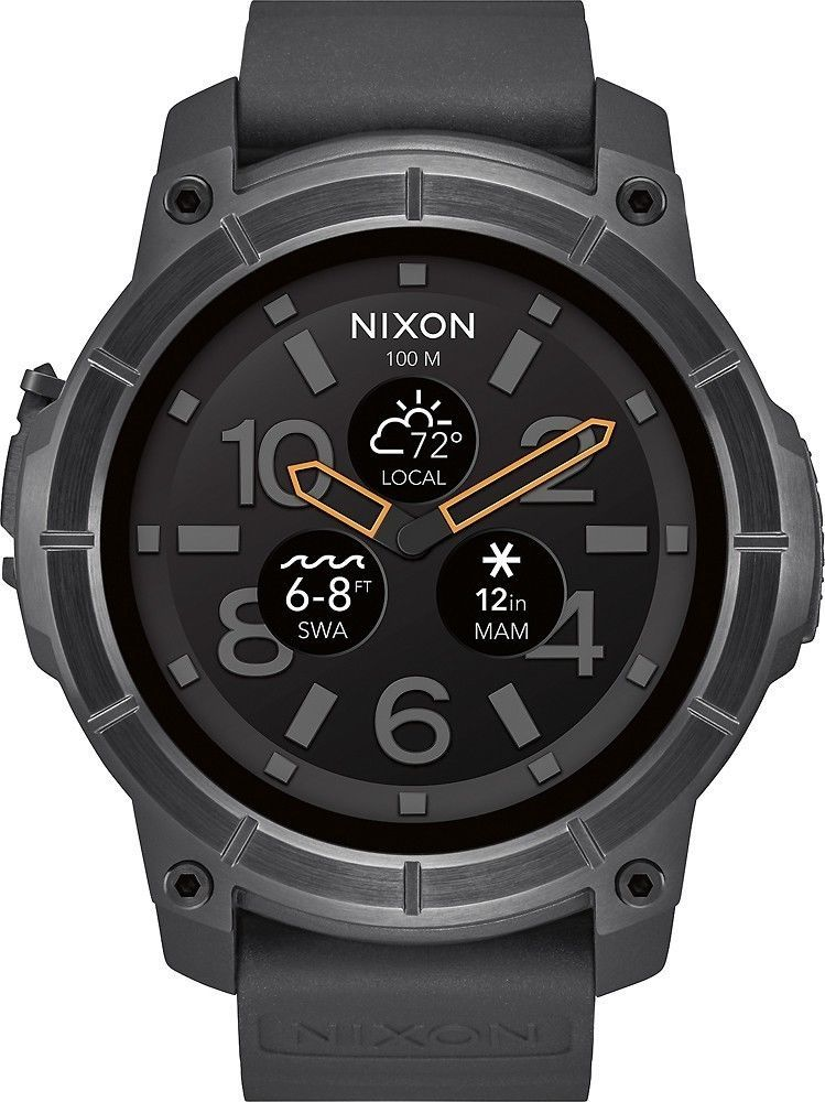 nice Nixon The Mission Smartwatch 48mm Polycarbonate