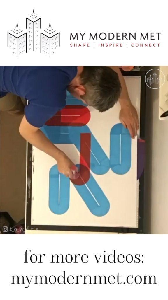 Dave Towers Hand malt unglaubliche Typografie mit klobigen Markern. Beobachten Sie wie ruhig seine Hände sind!