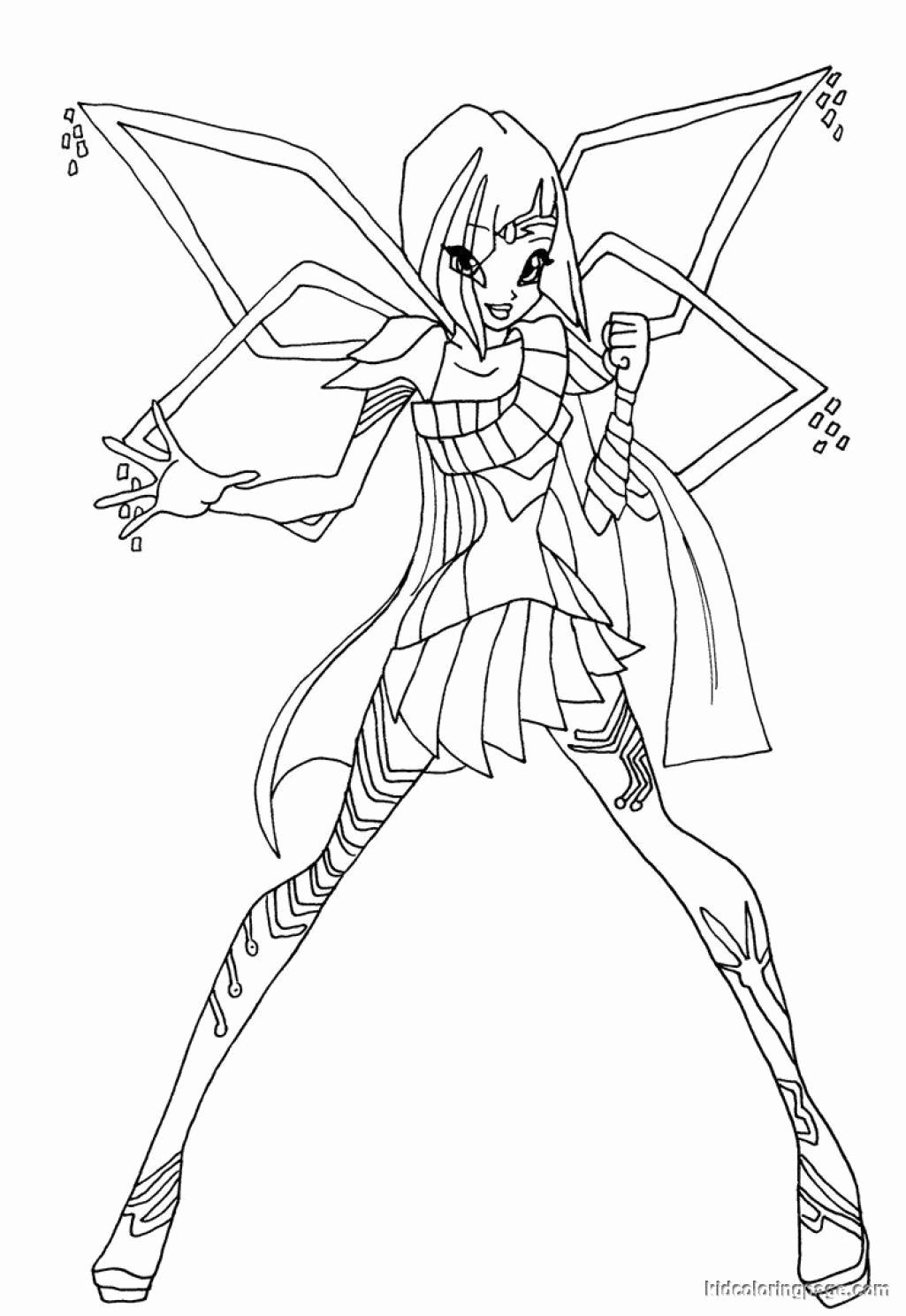 Super Bowl 50 Coloring Pages Lovely Awesome Winx Club Enchantix