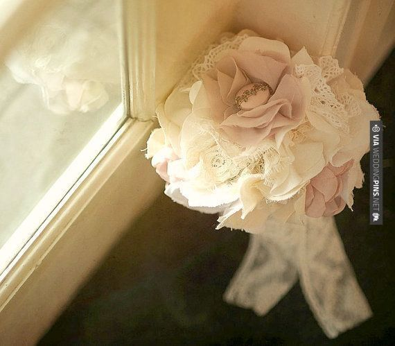 Fantastic! - Fabric Wedding Bouquet | CHECK OUT MORE GREAT VINTAGE WEDDING IDEAS AT WEDDINGPINS.NET | #weddings #vintagewedding #weddingvintage #oldweddingphotos #events #forweddings #iloveweddings #romance #vintage #planners #old #ceremonyphotos #weddingphotos #weddingpictures