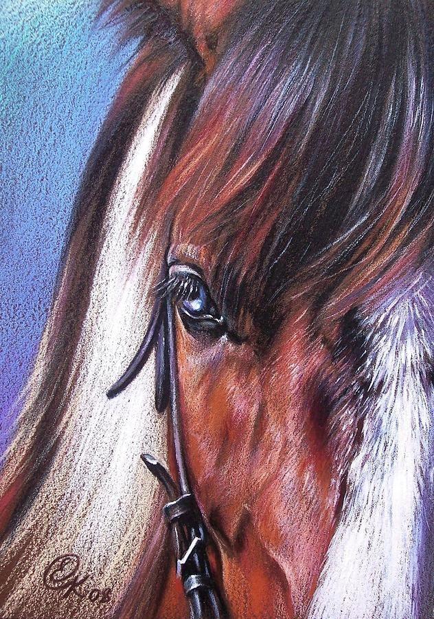 Magnificent Paint By Elena Kolotusha Horse Portrait Horse Drawings Color Pencil Art