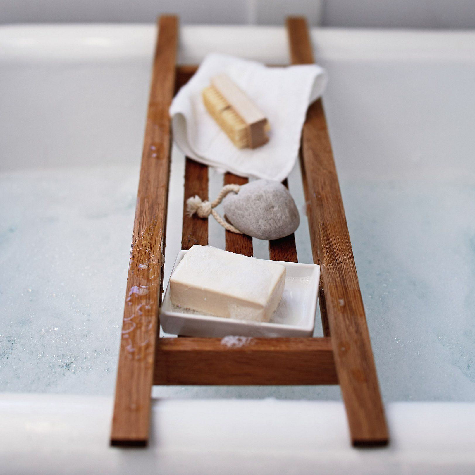 Wooden Bath Tidy Bathroom Accessories The White