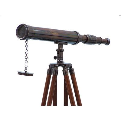 Longshore Tides Hartnett Refractor Telescope Finish Oil Rubbed Bronze Telescope Oil Rubbed Bronze Nautical Decor