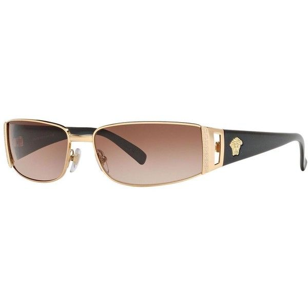 619e5f3254 Versace Unisex  VE 2021 100213  Gold  Brown Gradient Fashion ...