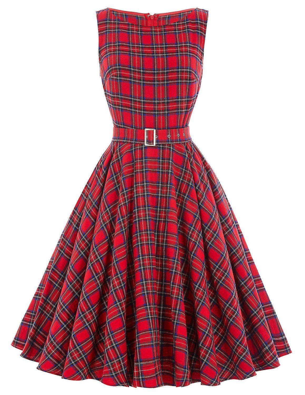 30f21268c0e Amazon.com  Belle Poque Sleeveless Vintage Floral Spring Dresses BP02  (Multi-Colored)  Clothing