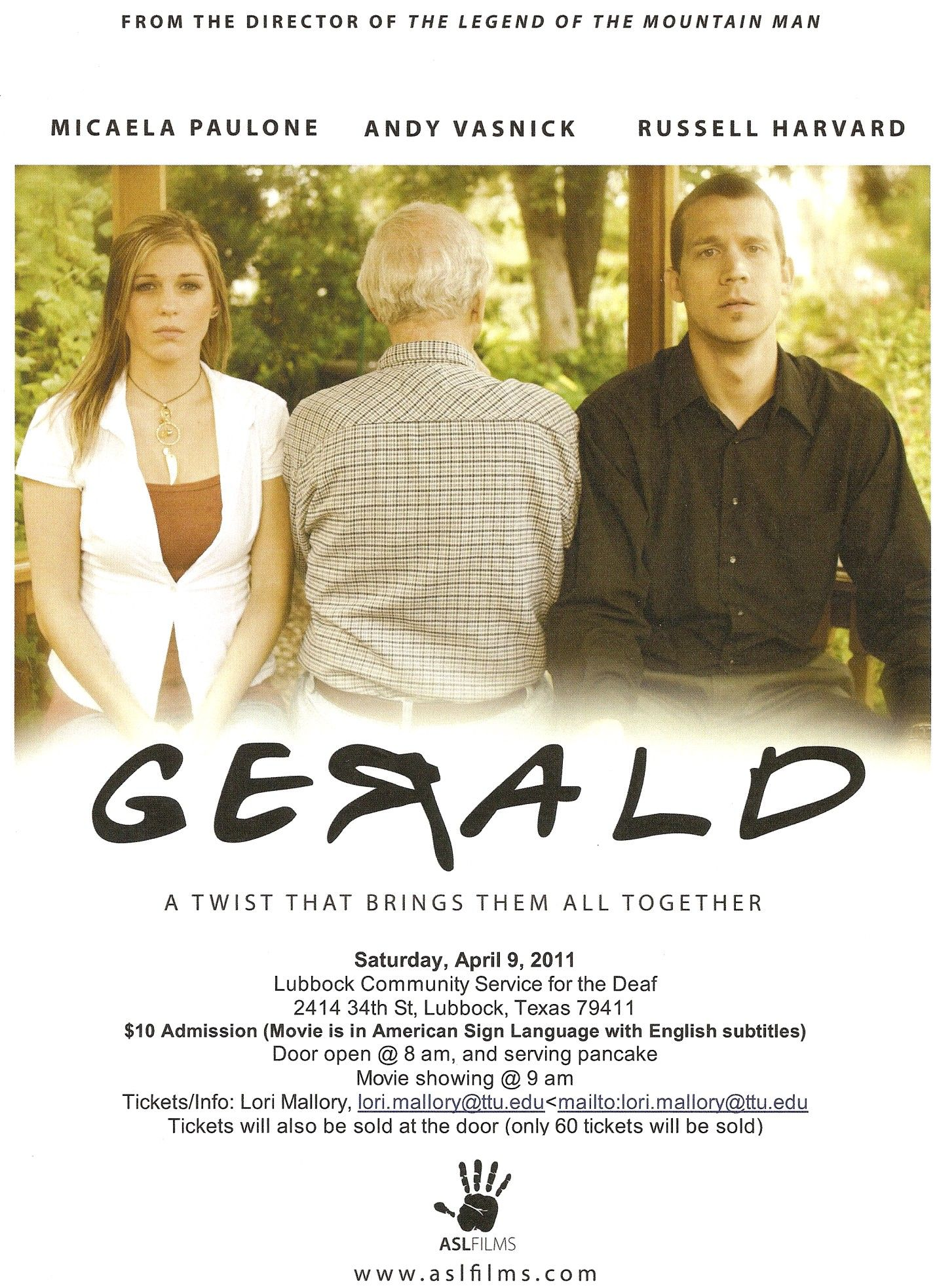 Gerald. ASL films. This was a good movie. I love Russell