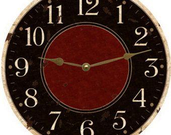Oversized Wall Clock Rustic Wall Clock Huge Clock Spool Clock