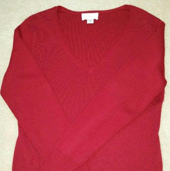 Loft Crimson Sweater Size Small Loft Crimson Sweater Size Small. No trades. LOFT Sweaters V-Necks
