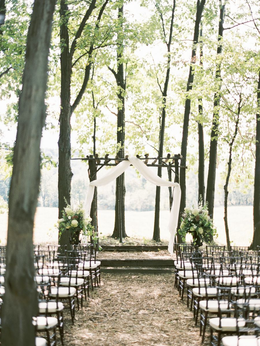 Intimate + Rustic Wedding in the Woods | Pinterest | Woods ...