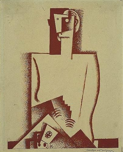 The Cardplayer - Louis Marcoussis -1921
