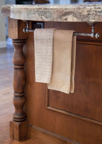 Towel Racks | Kitchen island towel bar, Kitchen towel rack ...