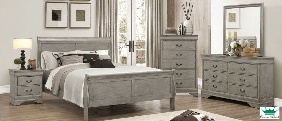 Grey Louis Philippe 6 Piece Queen Bedroom Set Ottawa Surplus