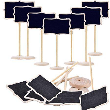 Mini Rechteck Kreidetafeln doppelseitig schwarz Board für Nachricht Board Schilder, Set von 12, Mini Chalkboard Rectangle Shape Blackboards on Stick Stand Place Holder Brand New Wedding Party Decorations http://amzn.to/2qSInDJ