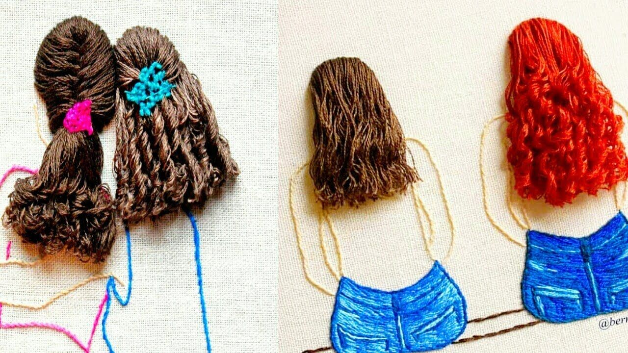 amazing embroidery hair//embroidery designs//embroidery designs idea