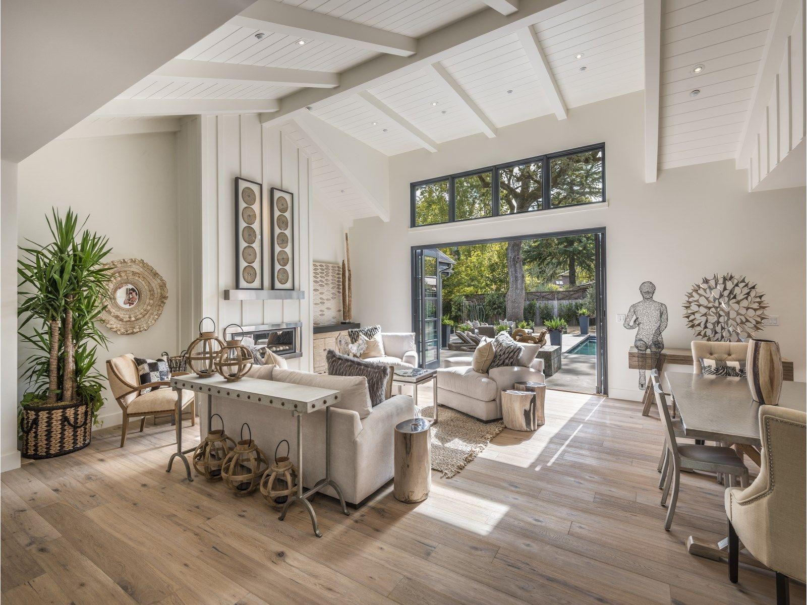 Cozy, modern farmhouse living room. Interior design by