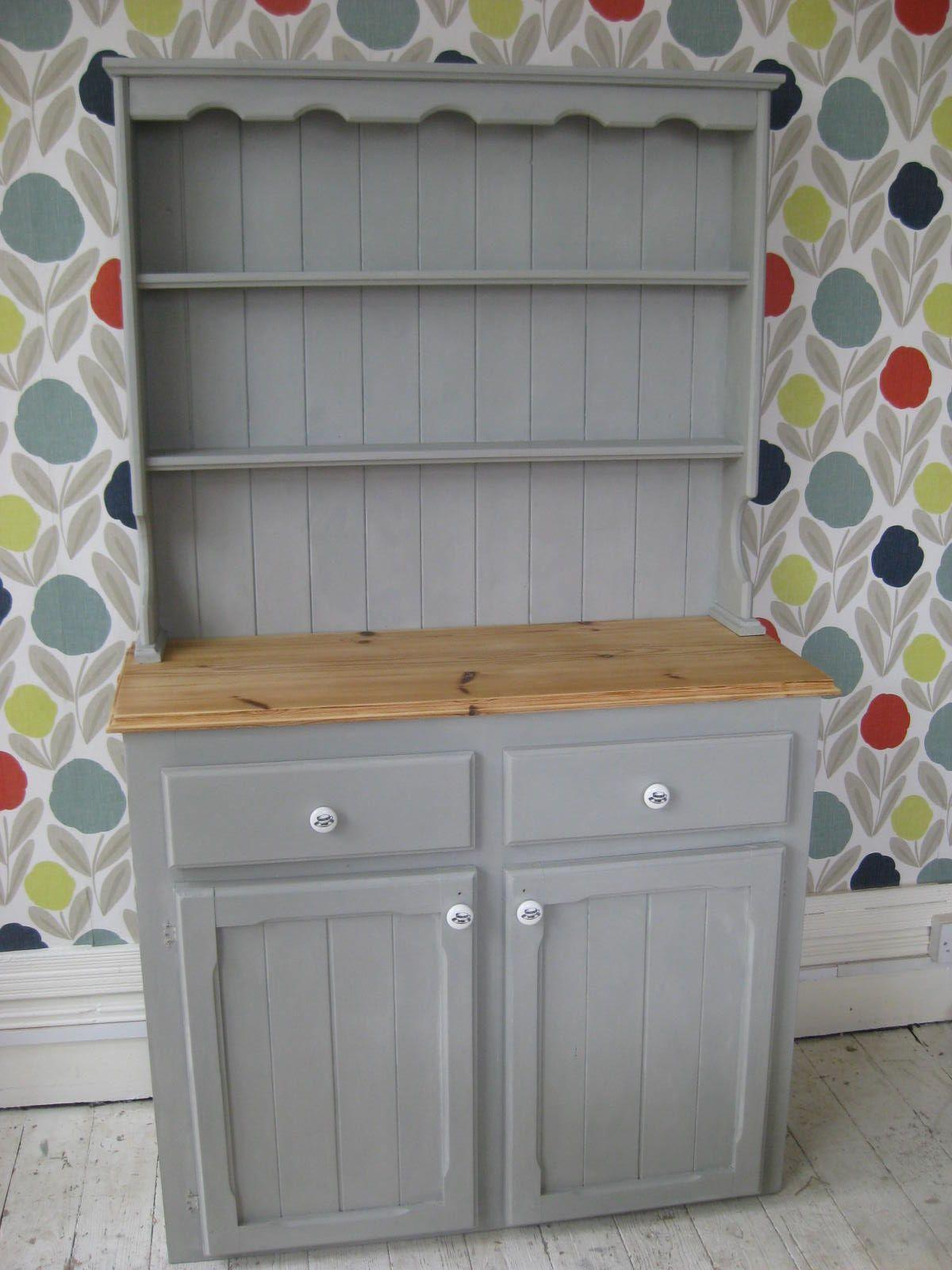 Pine Dresser Painted In Paris Grey Chalk Paint Tm