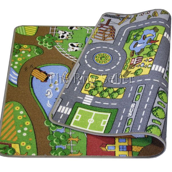 Reversible Playmat Road And Farm Buy Online From The Rug