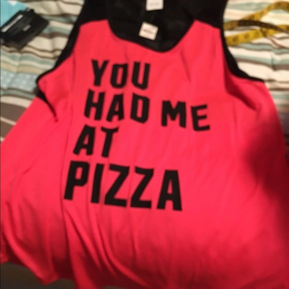 True story tank by PINK I love pizza so this tank says it all PINK Victoria's Secret Tops Tank Tops
