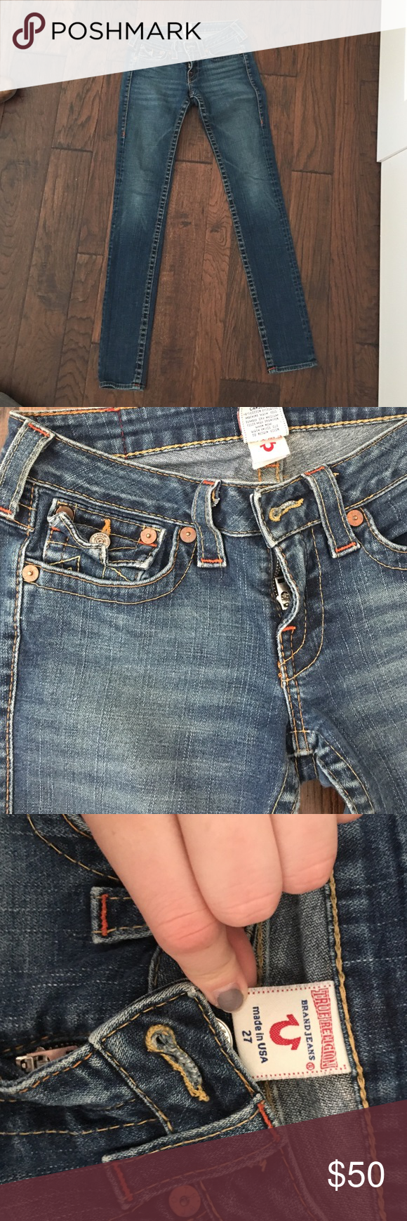 True religions jeans Great condition. Sad to see them go but they are too small on me. True Religion Jeans
