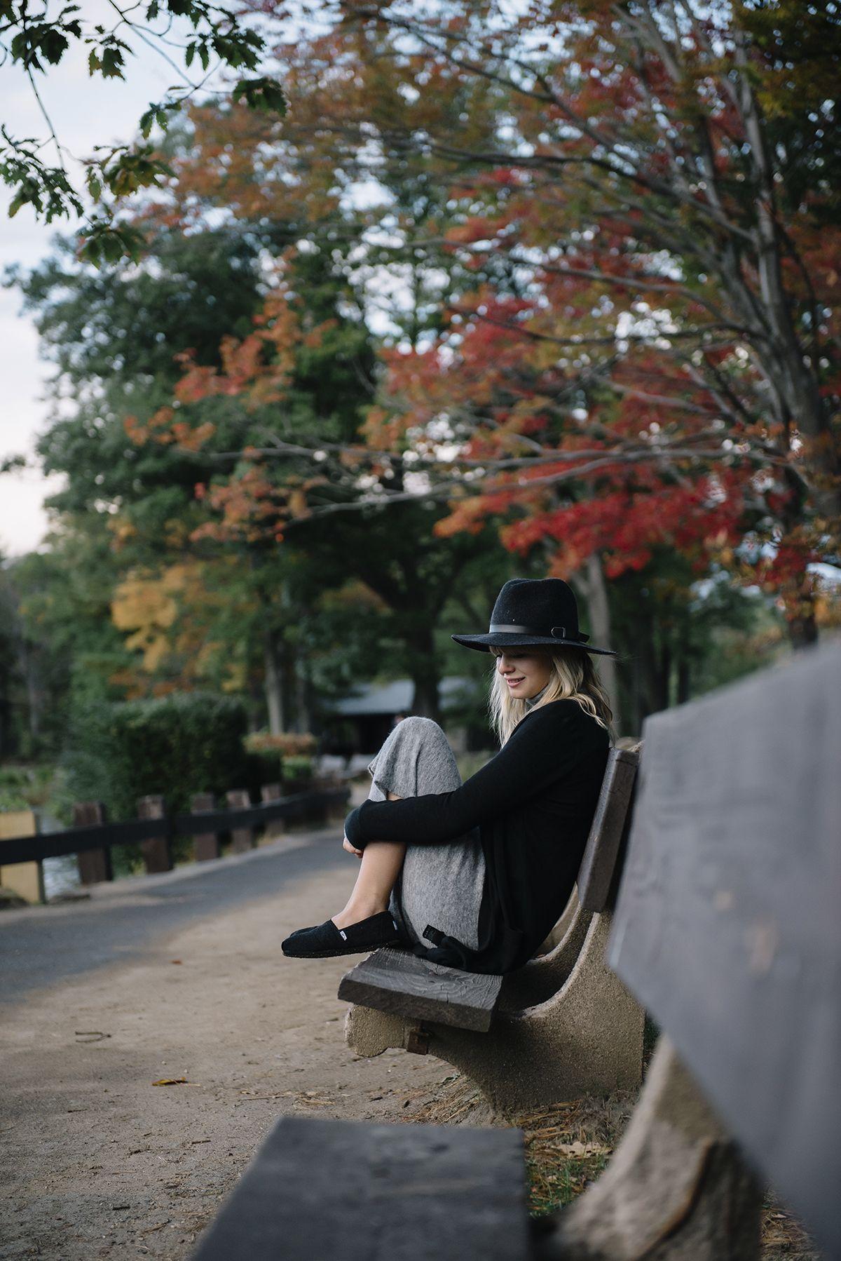 Digital Influencer Lisa Dengler in a Michael Stars Oh My Darling Wide Brim Hat